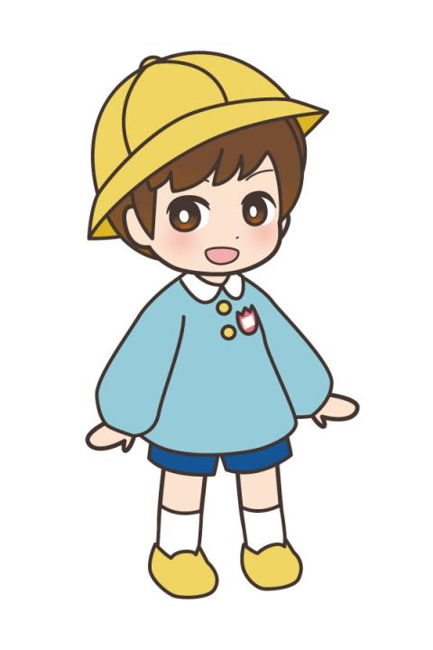 幼稚園児の男の子の黄色い帽子をかぶったイラスト 無料イラストのimt