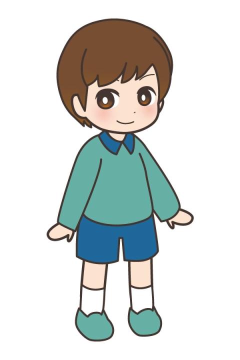 小学生の男の子が緑の服を着ているイラスト 無料イラストのimt 商用ok