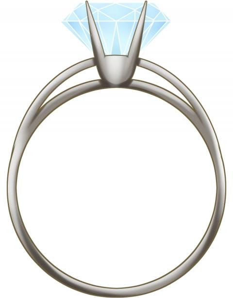 ダイアモンドの指輪のイラスト 無料イラストのimt 商用ok加工ok