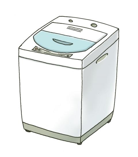 全自動洗濯機のイラスト