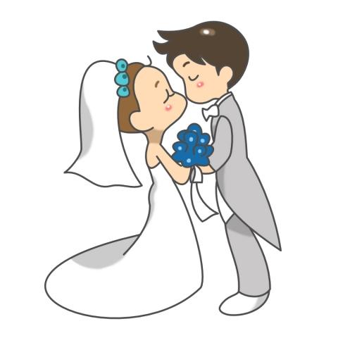 結婚式で誓いのキスをしている女性のイラスト 無料イラストのimt 商用