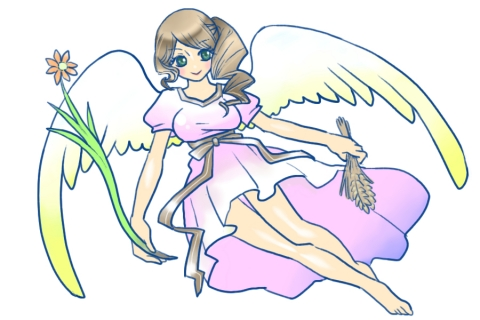 薔薇と乙女イラスト No 509975無料イラストならイラストac