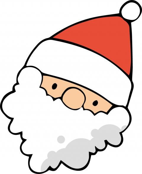サンタクロースが顔を傾けているイラスト 無料イラストのimt 商用ok