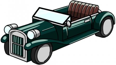 グリーンのクラシックカーのイラスト 無料イラストのimt 商用ok加工ok