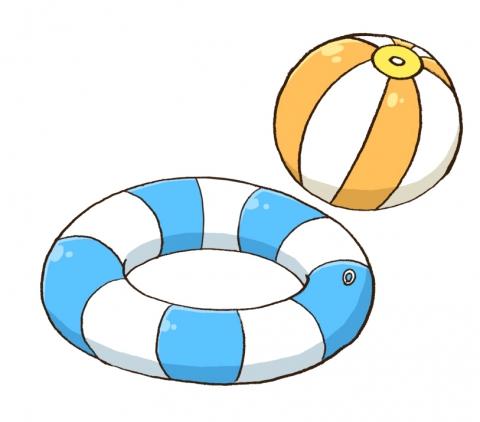 浮き輪とボールのイラスト 無料イラストのimt 商用ok加工ok