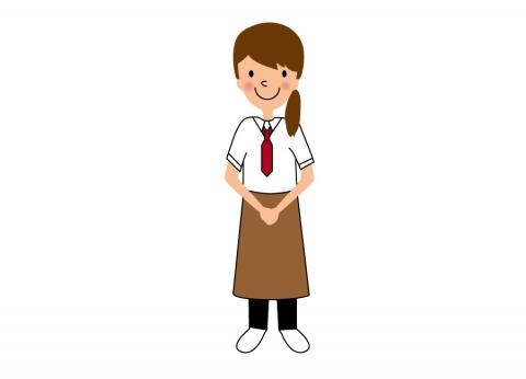 イタリア料理屋さんで働く女性のイラスト 無料イラストのimt 商用ok