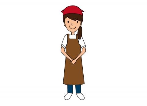 お弁当屋さんで働く女性のイラスト 無料イラストのimt 商用ok加工ok