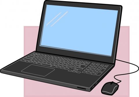 ノートパソコンの開いているイラスト 無料イラストのimt 商用ok加工ok