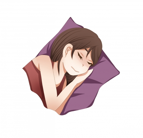 睡眠中の女性のイラスト