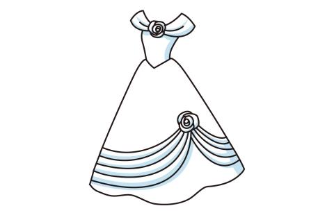 ドレスの色が白の素敵なイラスト 無料イラストのimt 商用ok加工ok