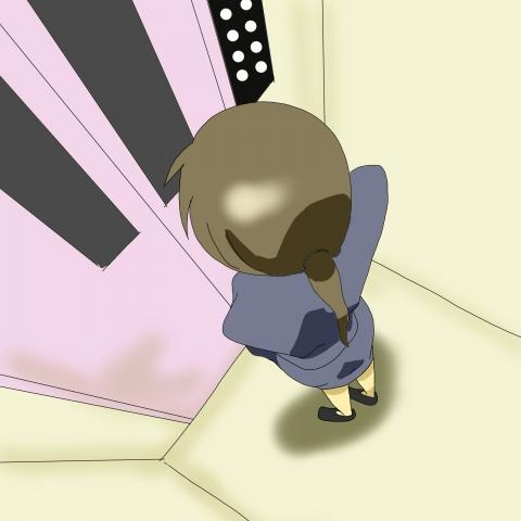 エレベーター内部の様子を上から見下ろすイラスト 無料イラストのimt