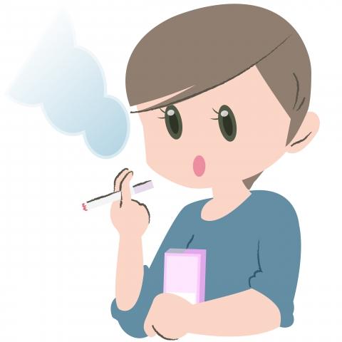 仕事の合間にたばこを吸っている女性のイラスト - 無料イラストのIMT ...