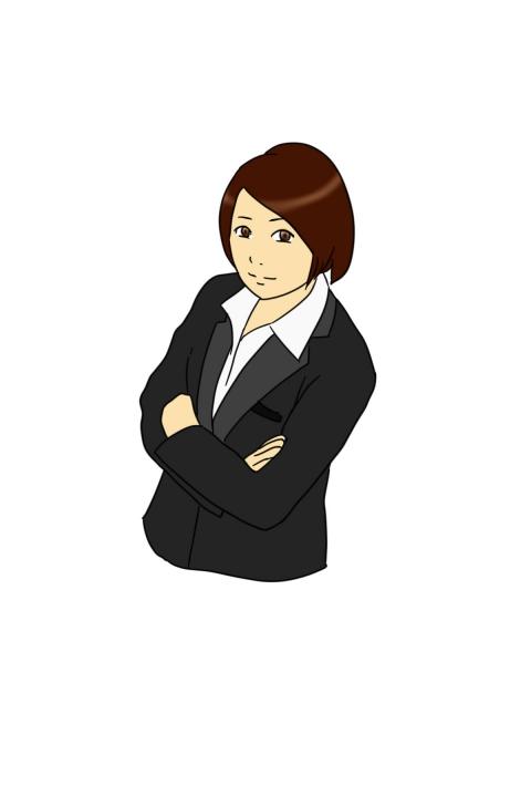 腕組みをする女性のイラスト 無料イラストのimt 商用ok加工ok