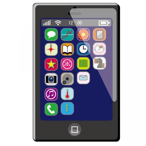 スマートフォンの画面のイラスト 無料イラストのimt 商用ok加工ok