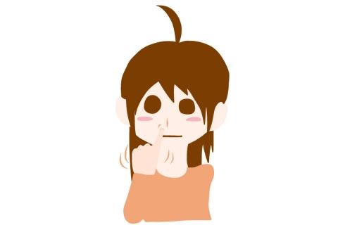 小指で鼻をほじっている若い女性のイラスト 無料イラストのimt 商用ok