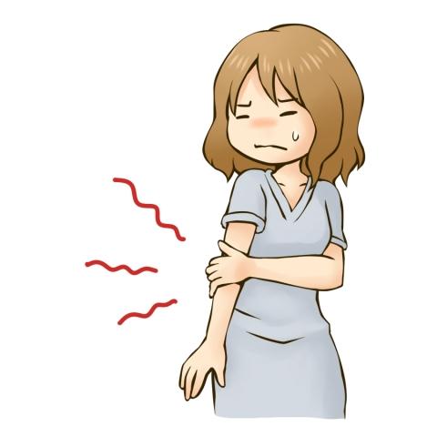 腕が痛い女性のイラスト - 無料イラストのIMT 商用OK、加工OK