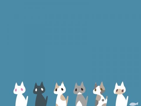猫が沢山いる壁紙