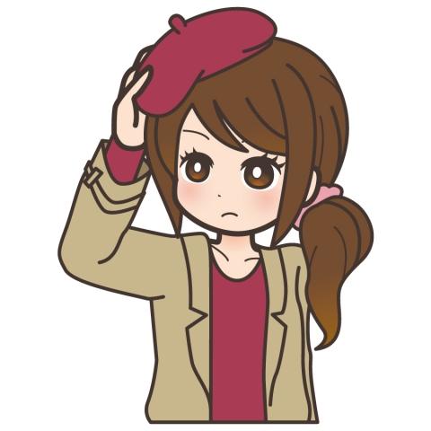 帽子をかぶる最中のかわいい女性のイラスト 無料イラストのimt 商用ok