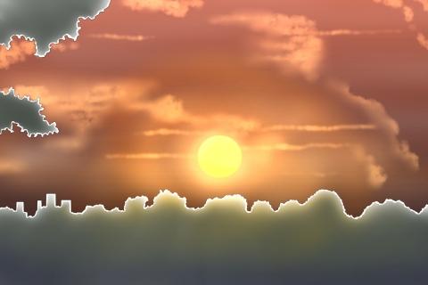 夕日の幻想的なイラスト 無料イラストのimt 商用ok加工ok
