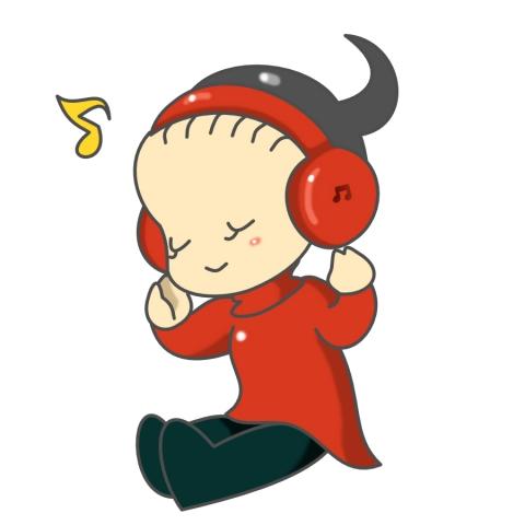 ヘッドホンで音楽を聴いている女性のイラスト 無料イラストのimt 商用