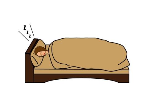 ベッドで横向きで寝ている女性のイラスト 無料イラストのimt 商用ok