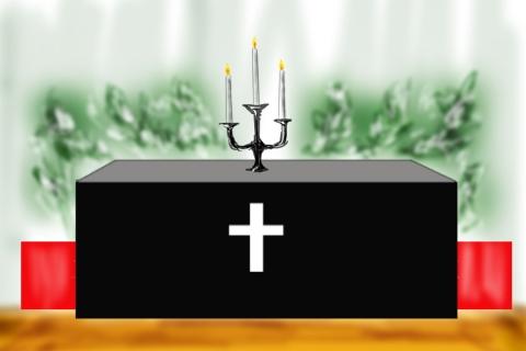 キリスト教式葬儀イメージのイラスト 無料イラストのimt 商用ok加工ok