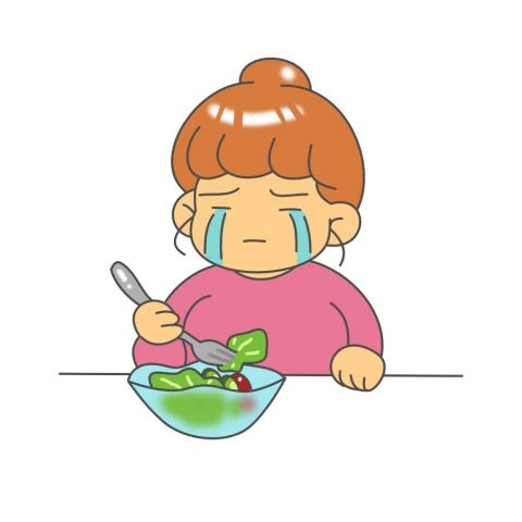 食事制限をしている太った女性のイラスト 無料イラストのimt 商用ok