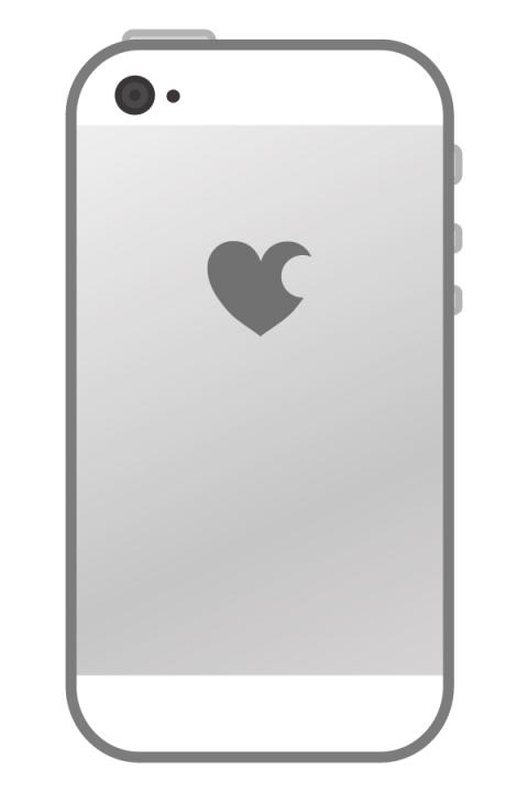 裏向きのスマートフォンのイラスト 無料イラストのimt 商用ok加工ok