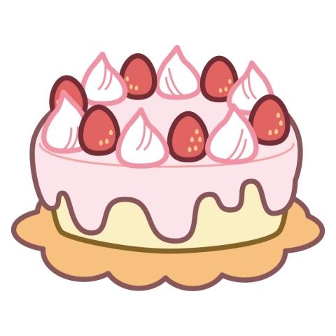 イチゴのケーキのイラスト 無料イラストのimt 商用ok加工ok