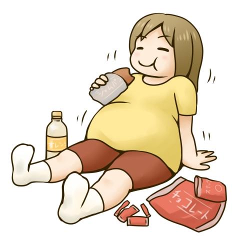 「 女性  肥満 イラスト」の画像検索結果