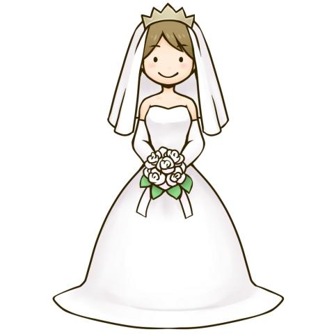 ウェディングドレスの女性のイラスト 無料イラストのimt 商用ok 加工ok