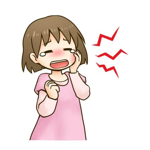 虫歯が痛くて子供が辛そうにしているイラスト 無料イラストのimt 商用