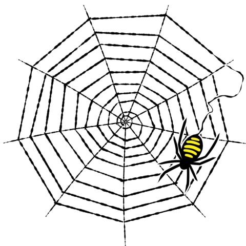 蜘蛛の巣と蜘蛛のイラスト 無料イラストのimt 商用ok加工ok