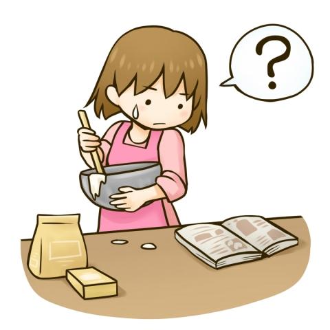 お菓子作りに奮闘する女の子のイラスト 無料イラストのimt 商用ok加工ok