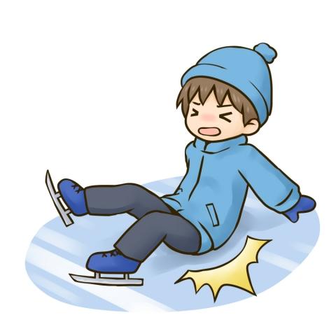 スケートで転んだ男の子のイラスト 無料イラストのimt 商用ok加工ok