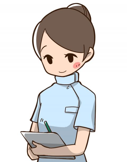看護師がカルテに書き込んでいるイラスト 無料イラストのimt 商用ok