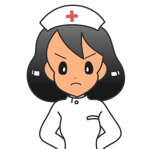 怒る看護師ナースのイラスト 無料イラストのimt 商用ok加工ok