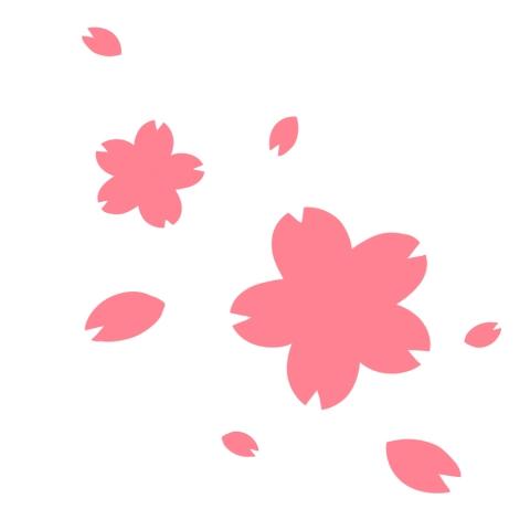 桜と花びらのイラスト 無料イラストのimt 商用ok加工ok