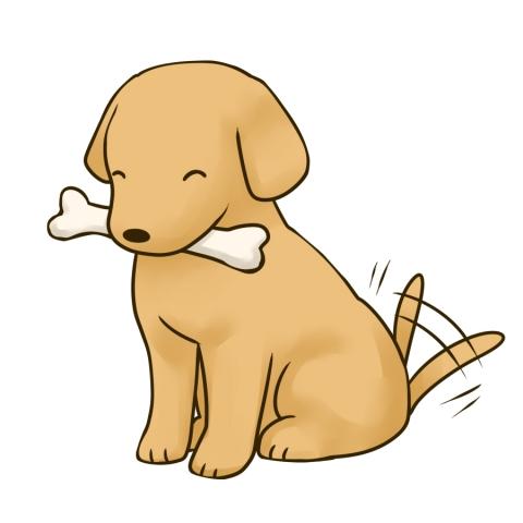 ホネをくわえた犬のイラスト 無料イラストのimt 商用ok加工ok