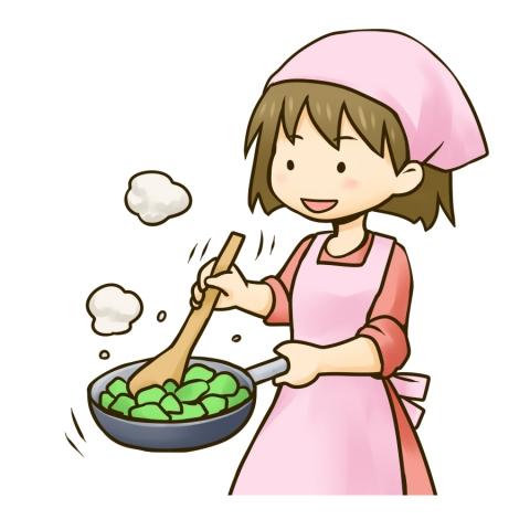 料理をする女の子のイラスト 無料イラストのimt 商用ok加工ok