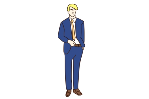 スーツを着た外国人男性のイラスト 無料イラストのimt 商用ok加工ok