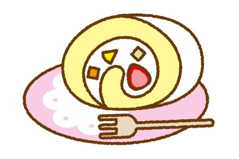 ふんわりロールケーキのかわいいイラスト 無料イラストのimt 商用ok