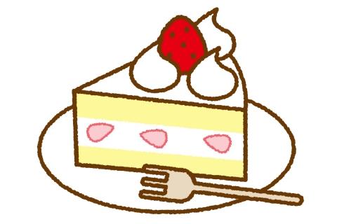 ショートケーキイラスト