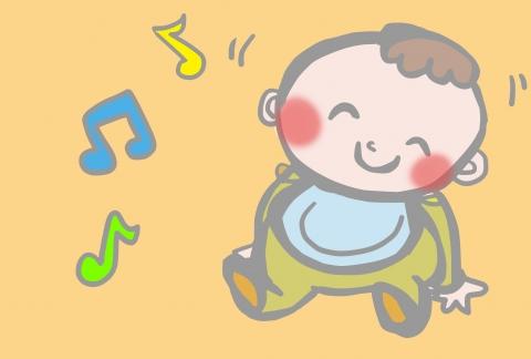 音楽にのる赤ちゃんのイラスト 無料イラストのimt 商用ok加工ok