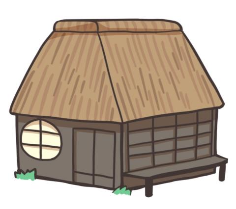 藁葺き屋根のイラスト 無料イラストのimt 商用ok加工ok