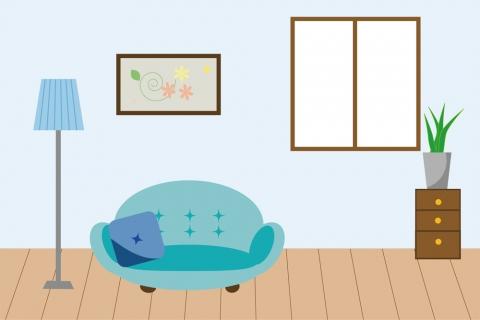 シンプルな部屋のイラスト 無料イラストのimt 商用ok 加工ok