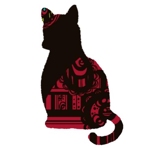 ピンクのおしゃれな猫のイラスト 無料イラストのimt 商用ok 加工ok