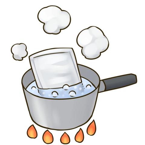 レトルトパウチを温めるイラスト 無料イラストのimt 商用ok加工ok