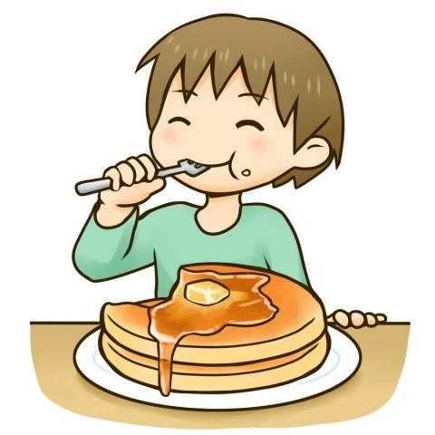 ホットケーキを食べる男の子のイラスト 無料イラストのimt 商用ok加工ok
