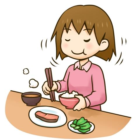 よく噛んで食べる女の子のイラスト - 無料イラストのIMT 商用OK、加工OK